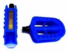 """KIDS CHILDREN`S BICYCLE/BIKE 9/16"""" PEDALS- Blue, Back or Red"""