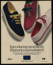 1990 KEDS NEON Shoes - Batteries Not Included - They Feel Good - VINTAGE AD