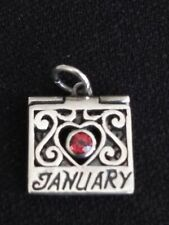 Sterling Silver 925 Garnet JANUARY MONTH~ LOCKET PENDANT