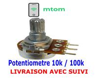 Potentiomètre linéaire 10K Ou 100K idéal projet Arduino, Raspberry, Electronique