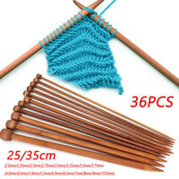 36 X 25/35cm long set of 18 Bamboo Double Pointed Knitting Needles Crochet Hooks