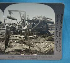 WW1 Stereoview Photo Feeding Grannie Shell Hoisted Into Position Keystone