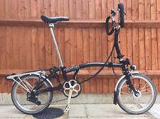 BROMPTON P6R SIX SPEED BLACK FOLDING BIKE CYCLE BICYCLE - WORLDWIDE SHIPPING