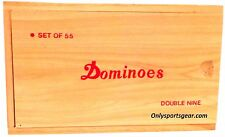 Double Nine Club Pub League Dominoes with Spinners - Set of 55 in Wooden Box UK