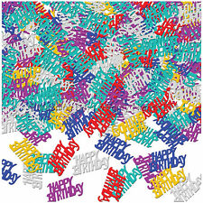 Happy Birthday Metallic Table Confetti Sprinkles Party Decorations Multicolour