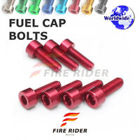 FRW Red Fuel Cap Bolts Set For Kawasaki Ninja 250R 08-13 08 09 10 11 12 13