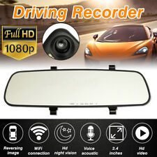 2.4'' Rear View Mirror Driving Video Recorder GPS Car Rearview Camera HD 1080P