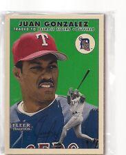 1991 FLEER GLOSSY TEAM SET TEXAS RANGERS JUAN GONZALEZ A