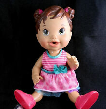 Baby Alive Gets A Boo Boo Hasbro 2013 Doll Brunette Molded Hair Band-Aid +Outfit