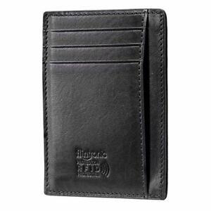 Portefeuille en Cuir Etui RFID Blocage Porte Carte de Crédit, Zip Porte-Monnaie