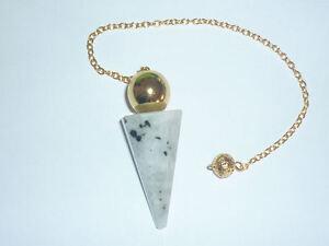 PENDOLINO GRANDE PIETRA LUNA ARCOBALENO DEA ORO pendolo cristallo labradorite ki
