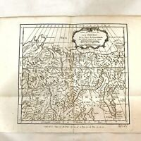 Antique 1754-57 Siberia Russia Map Decor Collectible Old Plate W/ Certificate