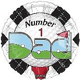 Golf NUMBER ONE DAD Birthday Father's Day Party Sports Balloon