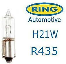 2 x Ring R435 BAY9S Bright Car Brake Reverse Light Bulb Lamp H21W 12v 21w