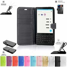Case Cover Flip Book Pouch Wallet Leather with Card Slot For BlackBerry KEY2