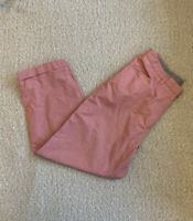RALPH LAUREN Ladies Red Check Cropped Cotton Trousers Pants Size 10 (6)