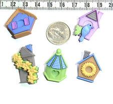 Novelty Buttons Embellishments Scrapbooking Bird Houses  # 391