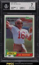 1981 Topps Football Joe Montana ROOKIE RC #216 BGS 7 NRMT