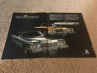 1974 CADILLAC CLASSIC FLEETWOOD BROUGHAM ELDORADO COUPE DEVILLE Car Print Ad 70s