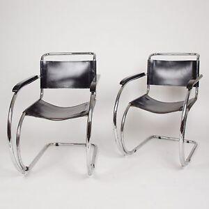 Knoll International Mies Van Der Rohe MR20 Armchairs Bauhaus Eames (2 pairs)