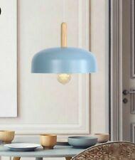 Indoor Pendant Kitchen Lights Metal Bowl Design LED Lamp With Woods 3 Cute Color
