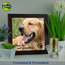 Dog Memorial Photo Plaque. Personalised. Your Photo & Script.  Ceramic Framed