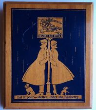 Vintage Burberry Wooden Advertising Sign Store Display Trench George Straith
