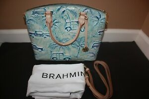 Brahmin Duxbury Medium Satchel SKY COPA CABANA BAG