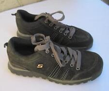 SKECHERS Black Suede Boot Like Walking Shoes Womens 7.5