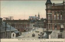 Susquehanna PA Main St. East c1910 Postcard