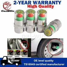 4 x Auto Tire Pressure Monitor Valve Stems Caps 36 PSI Sensor Indicator 3 Color