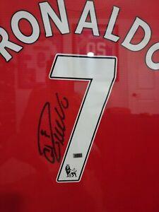 CRISTIANO RONALDO Autographed soccer Jersey Framed COA w/ signed photo