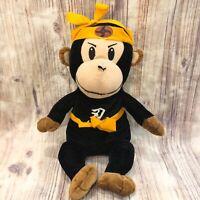 "Ninja Monkey Plush Peek A Boo Toys Stuffed Animal Toy Black Yellow Gold 15"""