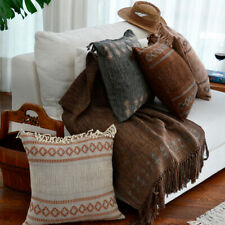 Decorative Square Pillow Handmade No Dyes Guatemalan Natural Color Cotton 20x20""