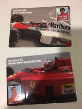 Marlboro World Champ Team Nigel Mansell & Alain Prost Cards