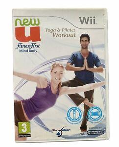 New U Fitness First Mind Body Yoga & Pilates Workout Nintendo Wii