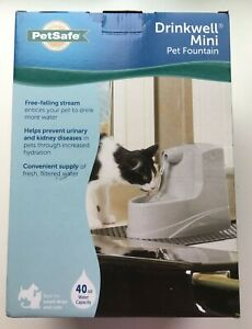 PetSafe Drinkwell Mini Pet Fountain Drink Point Wall Water Bowl, Cat, Dog, 40oz