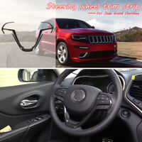 Carbon Fiber Inner Steering Wheel Frame Trim For Jeep Grand Cherokee 14-2018
