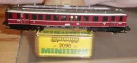 Minitrix 2096 Spur N Altbau-Stangen-Dieseltriebwagen VT 62 904 der DB sehr gut