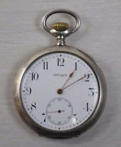 Antique Collectible Solid Silver 800 Intact Grand Prix Pocket Pocket Watch Paris