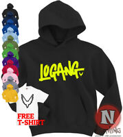 Logang Hoodie Logan Jake Paul JP JPX kids Adults top Hoody Maverick Youtubers