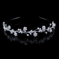 Blume Hochzeit Braut Haarschmuck Haarreif Krone Diademe Tiara