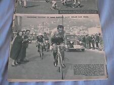 FAUSTO COPPI GINO BARTALI MILANO SANREMO CICLISMO 1950 RIVISTA MIROIR MAG
