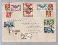 1925 Switzerland First Flight Cover FFC to Nairobi Benghazi Khartoum