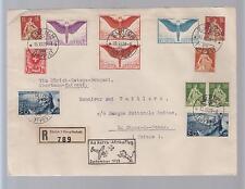 1925 Switzerland First Flight Cover FFC to Nairobi Benghazi Khartoum