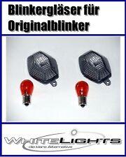 Schwarze Blinker Gläser Suzuki GSF Bandit 600 650 1200 1250 smoked signal lenses
