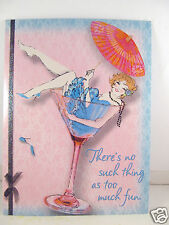Pink Glossy Glam Frou Frou Greeting Birthday Card No Such Thing As Too Much Fun