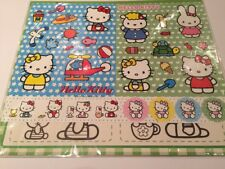 Hello Kitty Sanrio Re-useable stickers sheet, beach design, New Authentic B