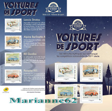 France 2018 Sports cars Race Racing Alpine Lancia Porche Gordini MNH 4v ! New
