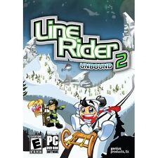 Line Rider 2 Unbound Sled Ski Arcade Puzzle Windows PC Computer Game - BRAND NEW